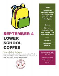 Lower School Coffee - Sept. 4