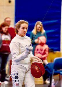 Ingrid, a senior, at pentathlon competition