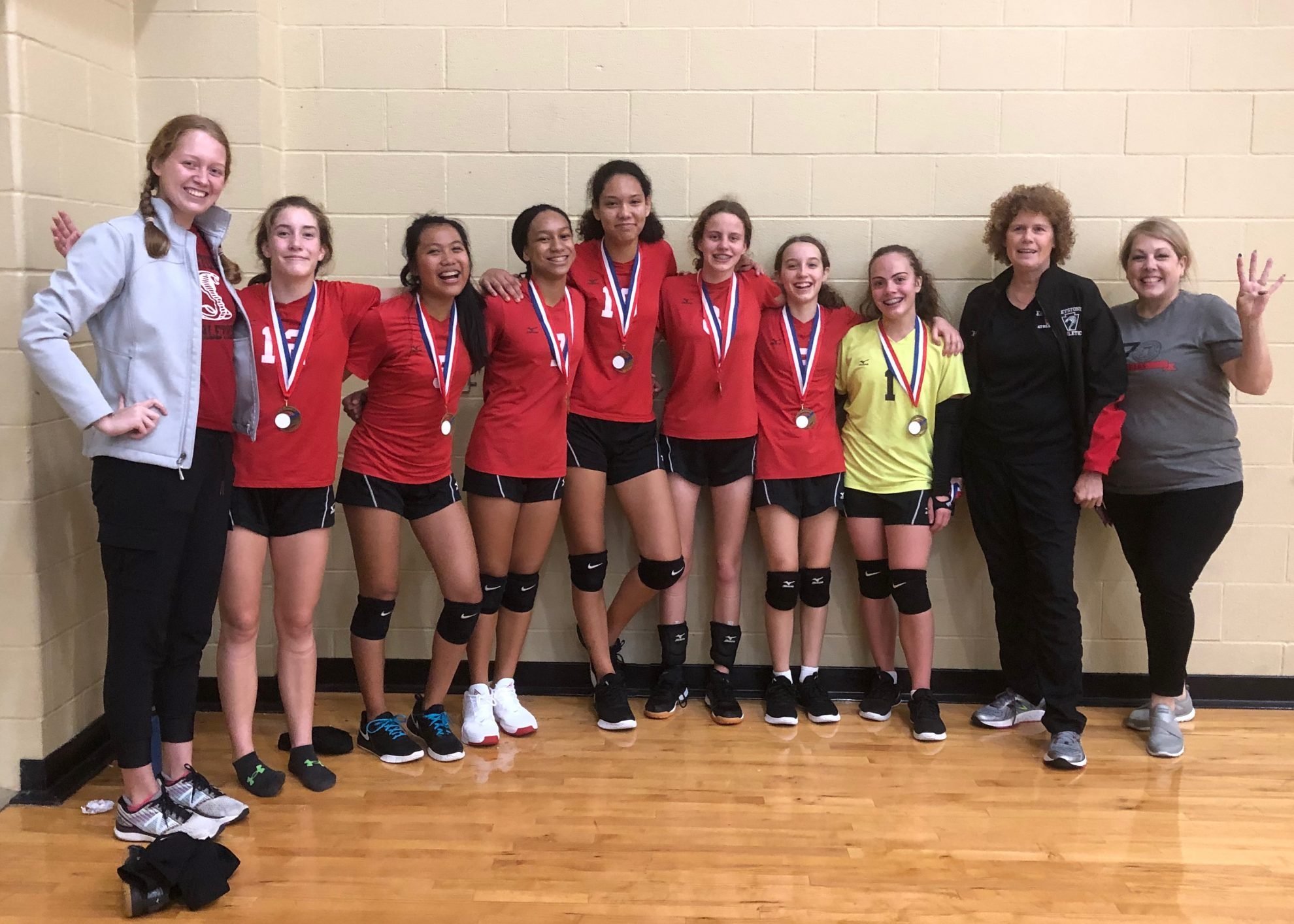 Middle School Volleyball Goes Undefeated Four Years In A Row Keystone School San Antonio Texas